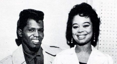 Yvonne Fair and James Brown