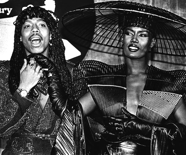 Rick James and Grace Jones