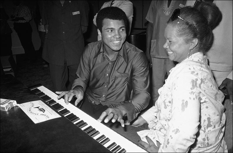 Etta James and Muhammad Ali
