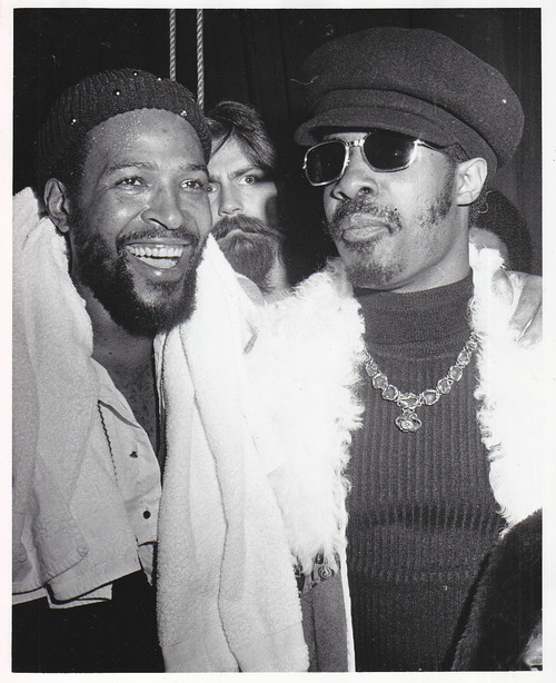 Marvin Gaye and Stevie Wonder