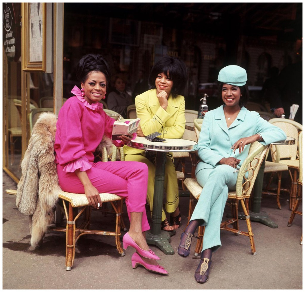 SUPREMES in Paris mid 1960s from l Diana Ross Florence Ballard and Mary Wilson