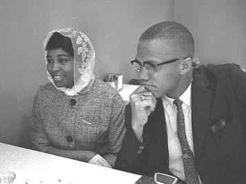 Betty and Malcolm Shabazz