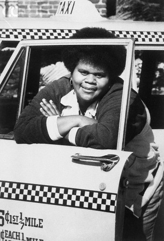 Shirley Hemphill Peering from Cab Window